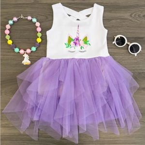 NEW Boutique Purple Unicorn Tutu Dress Sz 2T